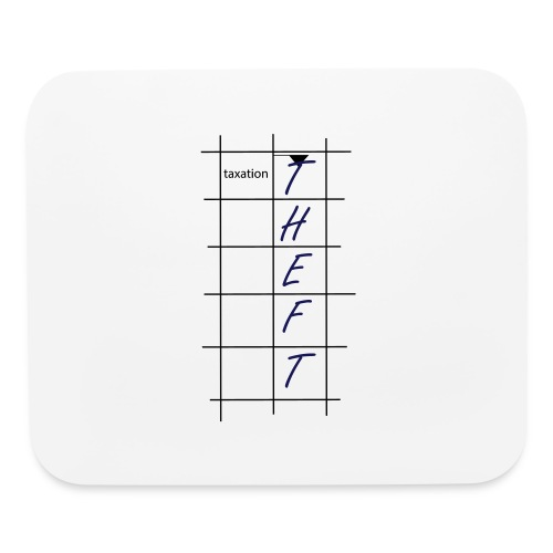 Taxation is Theft Crossword - Mouse pad Horizontal