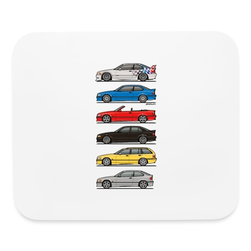 Stack of E36 Variants - Mouse pad Horizontal