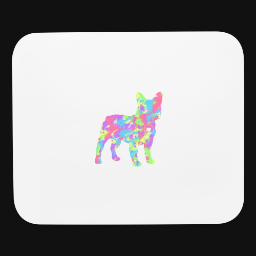 Frenchie love splatter - Mouse pad Horizontal