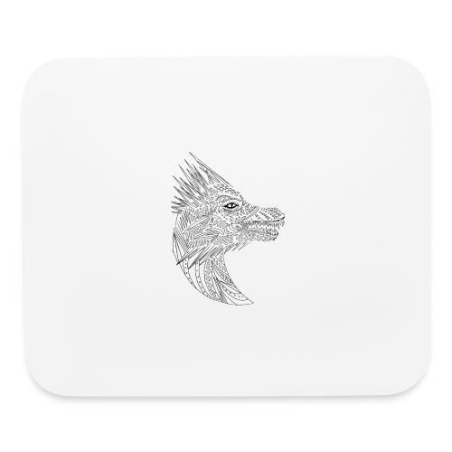 black art deco dragon head - Mouse pad Horizontal