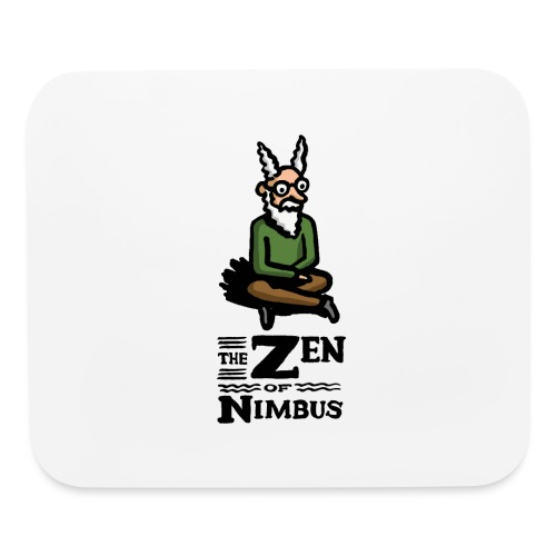 Nimbus character in color and logo vertical - Mouse pad Horizontal