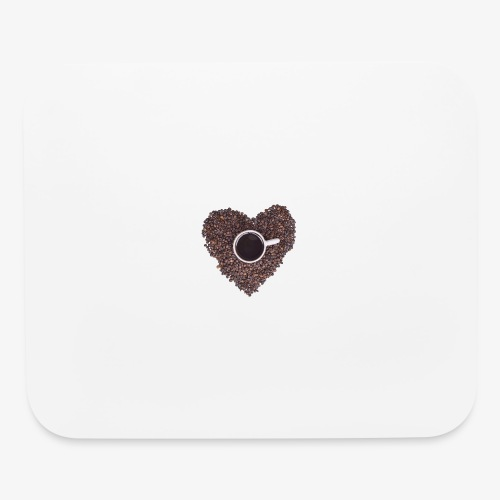 I Heart Coffee Black/White Mug - Mouse pad Horizontal