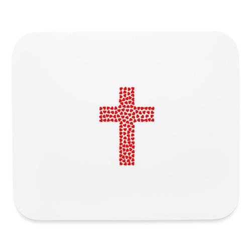 Jesus Love heart cross - Mouse pad Horizontal