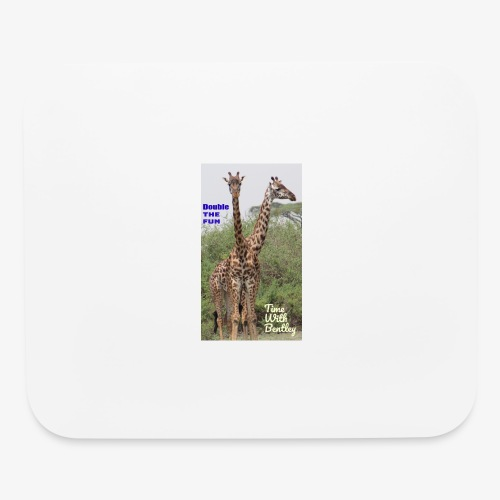 Two Headed Giraffe - Mouse pad Horizontal
