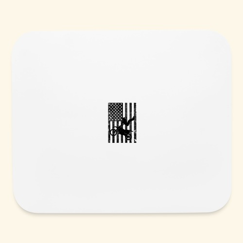 American Flag (Black and white) - Mouse pad Horizontal