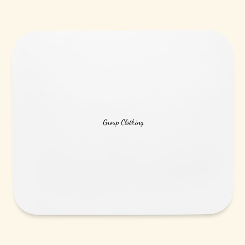 Cursive Black and White Hoodie - Mouse pad Horizontal